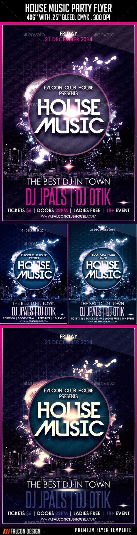 house party music house music party flyer by falconlabdesigns graphicriver
