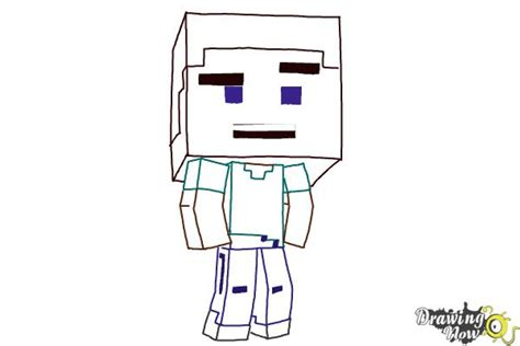 doodle draw minecraft how to draw a chibi steve from minecraft drawingnow