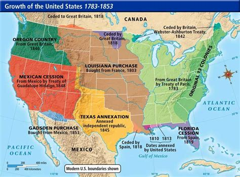 expansion of united states to 1833 map westward expansion map of the u s a this is a map of