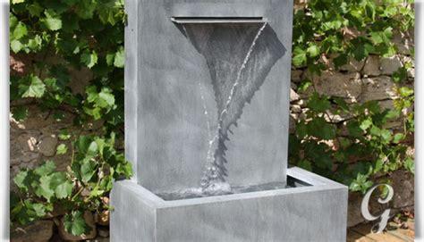 wandbrunnen modern wandbrunnen aus zink fascio gartentraum de