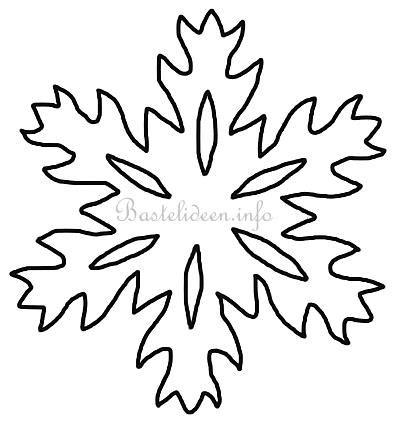 Kostenlose Vorlage Schneeflocke bastelvorlage weihnachten winter schneeflocke 10
