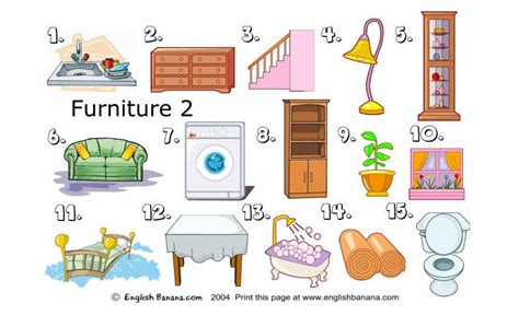 spanish word for couch furniture with pictures spanish with gossett at ernie
