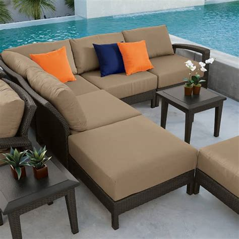 patio sofas elegant outdoor furniture for stylish terrace design