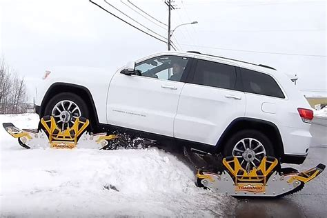 jeep tracks bolt on tracks turn jeeps into snowmobiles in 15 minutes