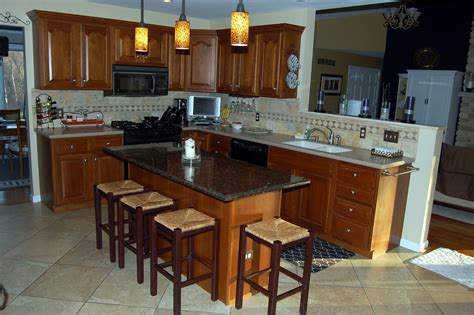 granite island kitchen tips to decorate a granite kitchen island thediapercake