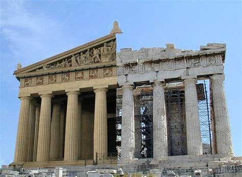 Parthenon Cornice Parthenon Original And Simulation Classical