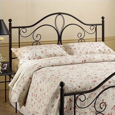 metal headboards twin hawthorne collections twin metal headboard in brown hc