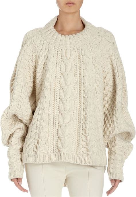 Sweater Wanita Fashion Garsel 7 chunky cable knit sweater the row just stylin chunky cable knit sweater cable