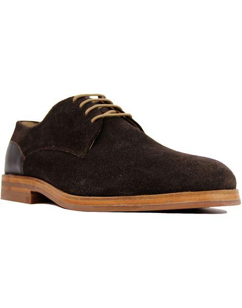 Enrico Shoes Brown S Baldo enrico h by hudson retro suede leather combo derby shoes