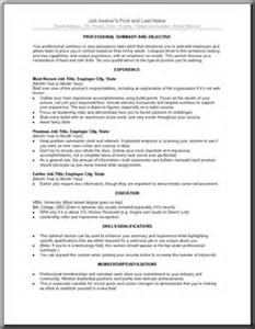 writing cv template