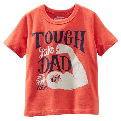 T Shirt Sleeve Oshkosh oshkosh b gosh toddler boy quot tough like smart like quot orange t shirt ebay