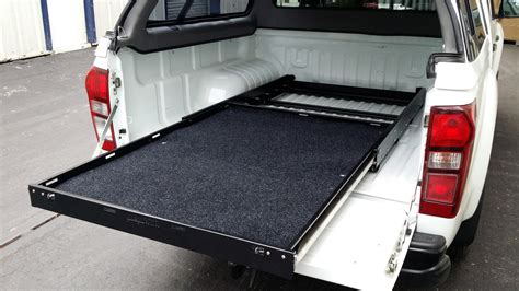 sliding truck bed pick up van rear bed slide out sliding cargo tray exterior
