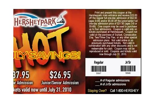 hershey park hotel coupons