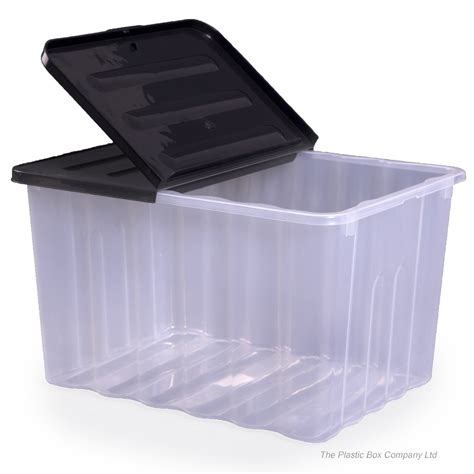 storage box buy 110lt strata large plastic storage box and lid
