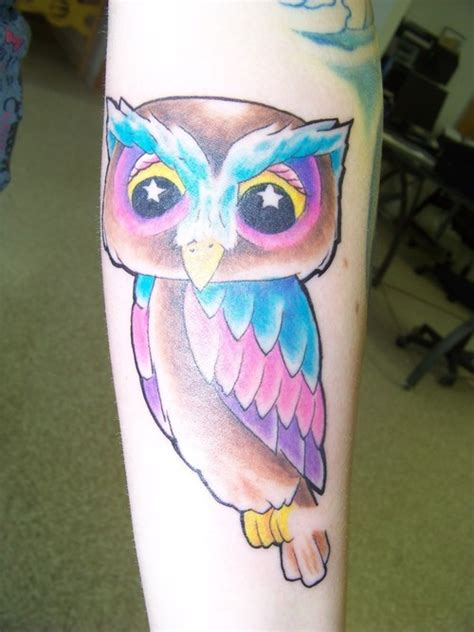 cartoon owl tattoo owl tattoos gallery