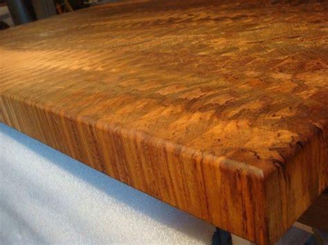 custom made butcher block made spalted maple end grain butcher block island top