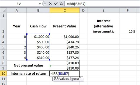 Rate Of Return Spreadsheet by Excel Formula Help Choosing Between Investments An