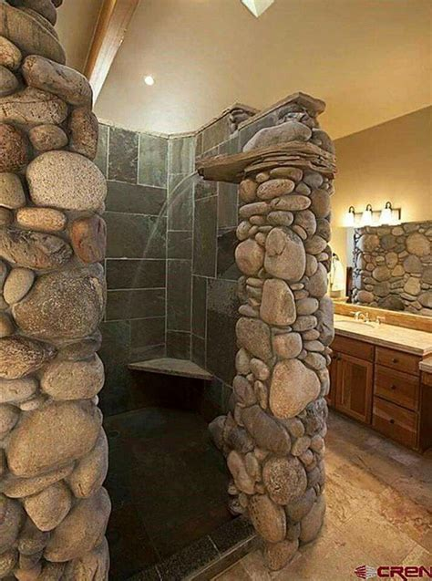 river rock bathroom luxury bathrooms pinterest