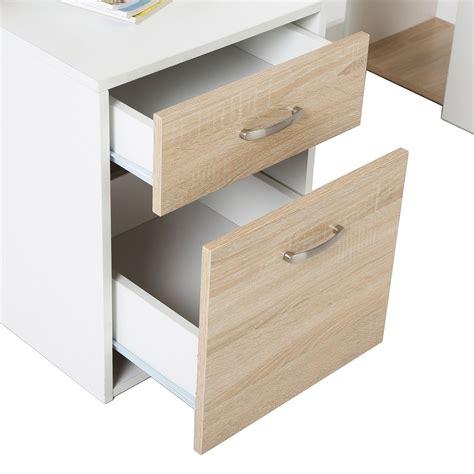 mesa de ordenador botina en madera color blanco  roble