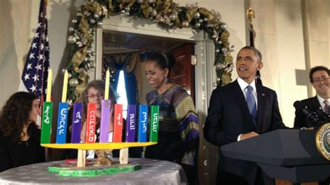 menorah house arab jewish school s menorah lights up white house hanukkah party the times of israel