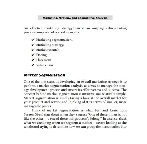 sample competitors analysis template   documents