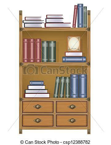 Bookcase Clipart ベクター ベクトル 本箱 ストックイラスト ロイヤリティーフリーイラスト ストッククリップアート