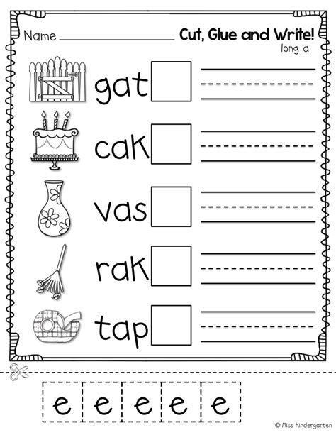 Cvce Worksheets by Miss Kindergarten Cvce Practice That Tricky Magic E