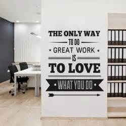 Office Wall Decorating Ideas For Work Office Decor Typography Inspirational Quote Wall Decoration Vinyl On Luulla