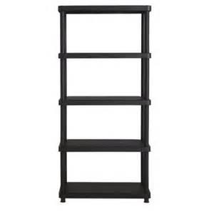 plastic storage shelves walmart keter 16 quot 5 tier plastic freestanding shelving unit black