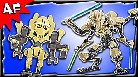 Lego Starwars Buildable Figures 75112 General Grievous Promo lego wars general grievous battle figure 75112 stop motion build review