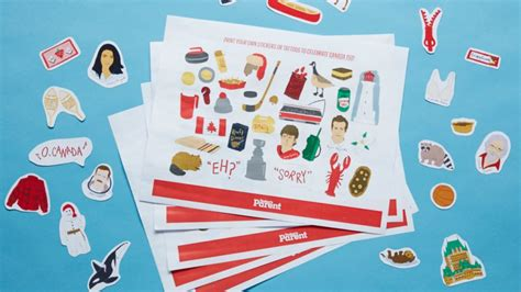 printable sticker paper canada celebrate canada with these printable stickers and
