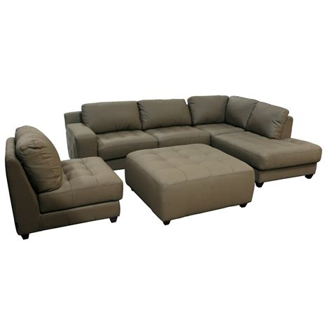 sofa with ottoman chaise sofa with chaise ottoman zen collection left facing