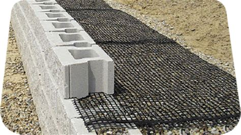 srw products—retaining wall geogrid