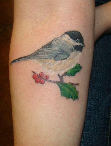 chickadee tattoo chickadee