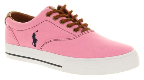 mens ralph vaughn laguna pink navy trainers shoes