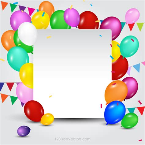 birthday card balloon template modelo de cart 227 o de feliz anivers 225 vectores de