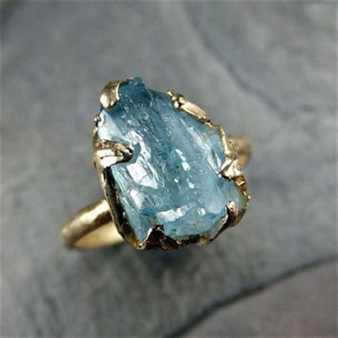 shop raw gemstone rings on wanelo