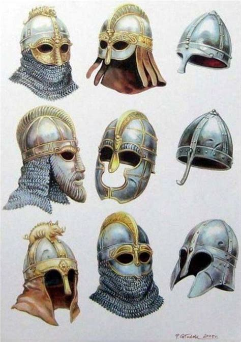 anglo saxon hairstyle helmets anglo saxon style armor weapons pinterest