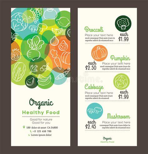 Beetroot Organik organic healthy food with fruits and vegetables menu flyer