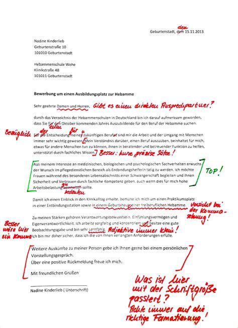 Bewerbungsschreiben Praktikum Als Hebamme Bewerbung Ausbildung Anschreiben Templated