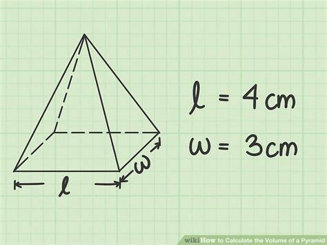 volume pyramid how to calculate the volume of a pyramid with sheet