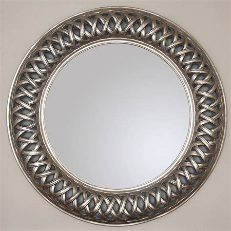 Decorated Mirrors by Grand Chagne Silver Weave Mirror By Decorative