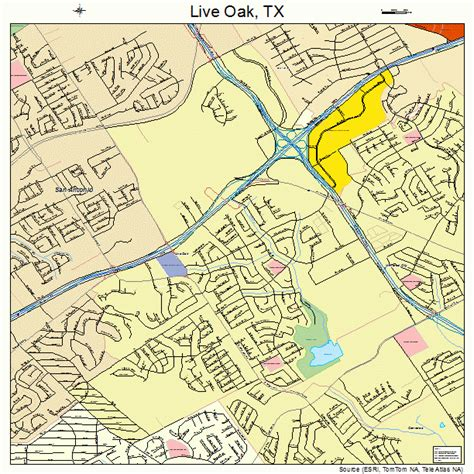 oak texas map live oak texas map 4843096