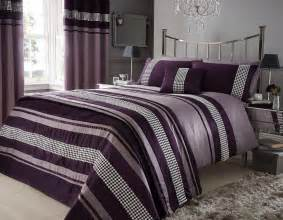 Bathroom Shower Curtains And Matching Accessories by Aubergine Purple Colour Stylish Lace Diamante Duvet Cover