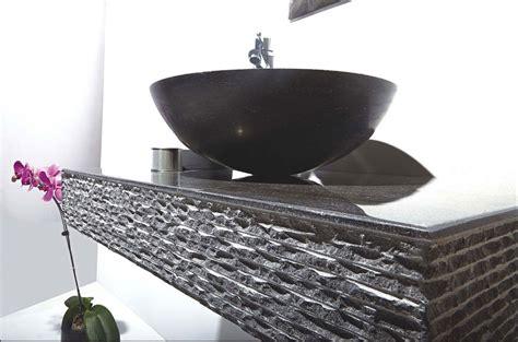 rome 36quot single vessel sink wall mount blue stone vanity set
