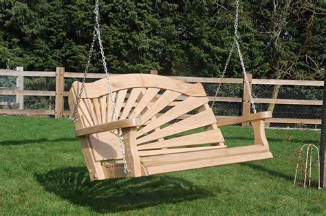 timber swing seat traditional and modern wooden garden swing seats and swing