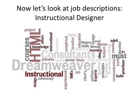 instructional designer job description new skills for