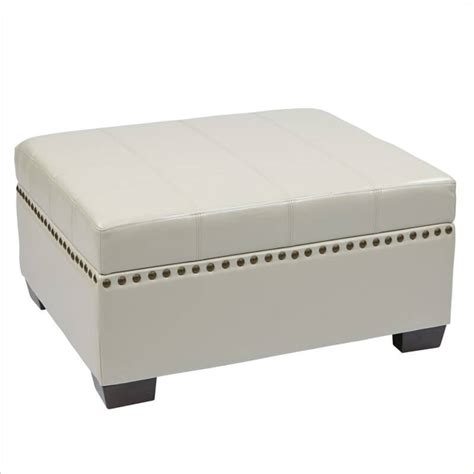 awesome white leather ottoman with storage 25 white