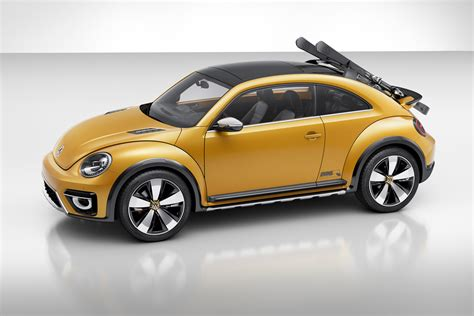 volkswagen beetle concept vw s new beetle dune concept can carry skis in style