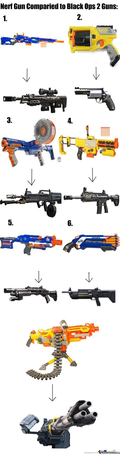 Nerf Gun Meme - nerf guns compaired to bo2 guns by thatguycalledalex